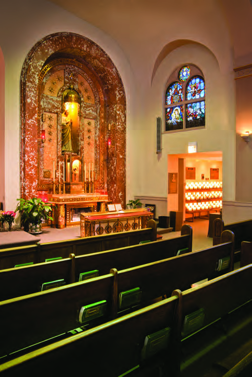 The Shrine of St. Jude at Our Lady of Guadalupe Church in Chicago