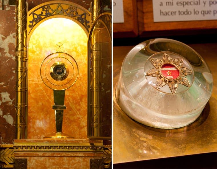 Two first-class relics at the altar of St. Jude