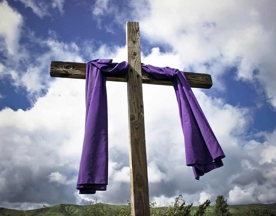Lent Purple Cross
