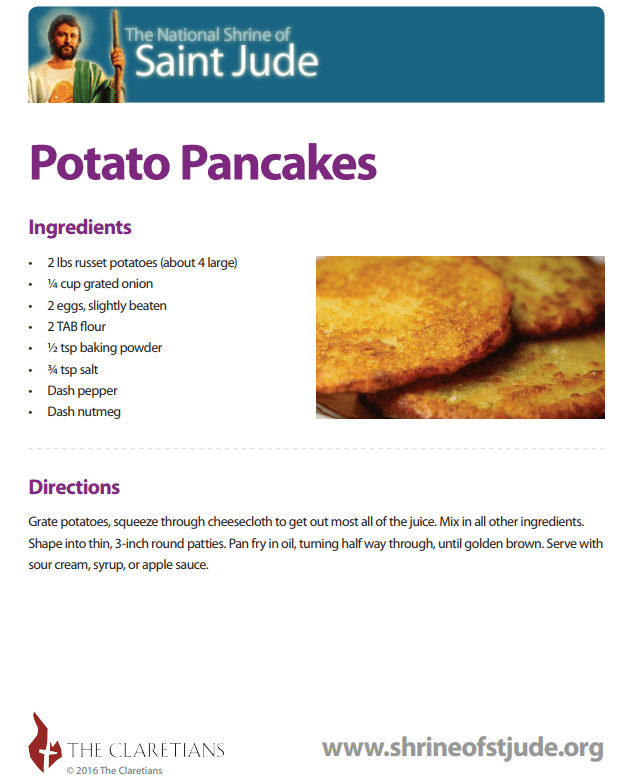 Potato Pancake Recipie