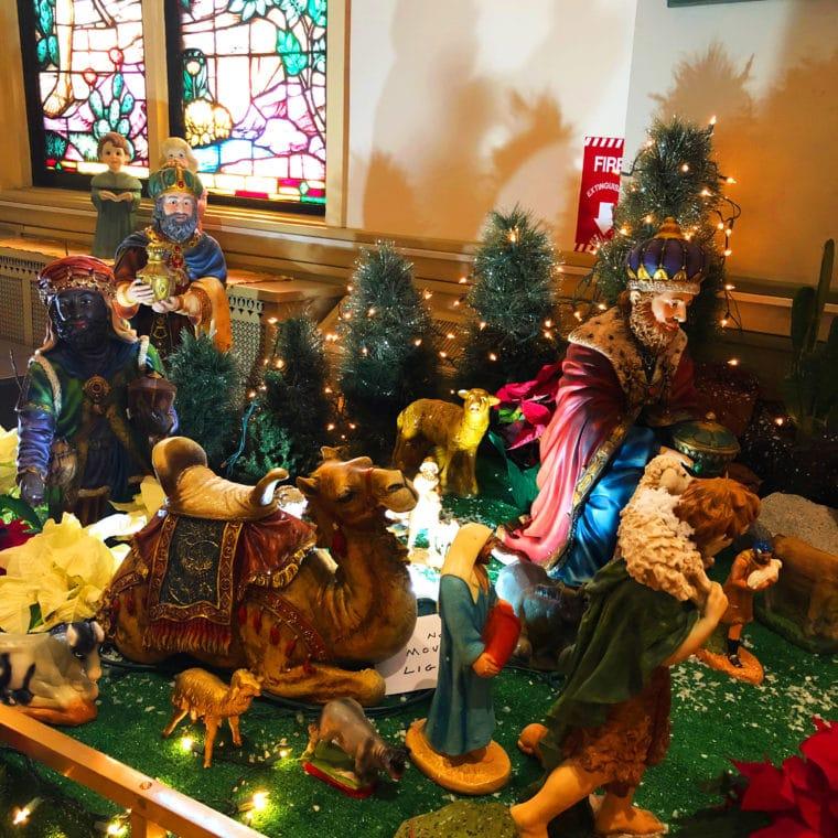 Nativity scene at the Shrine