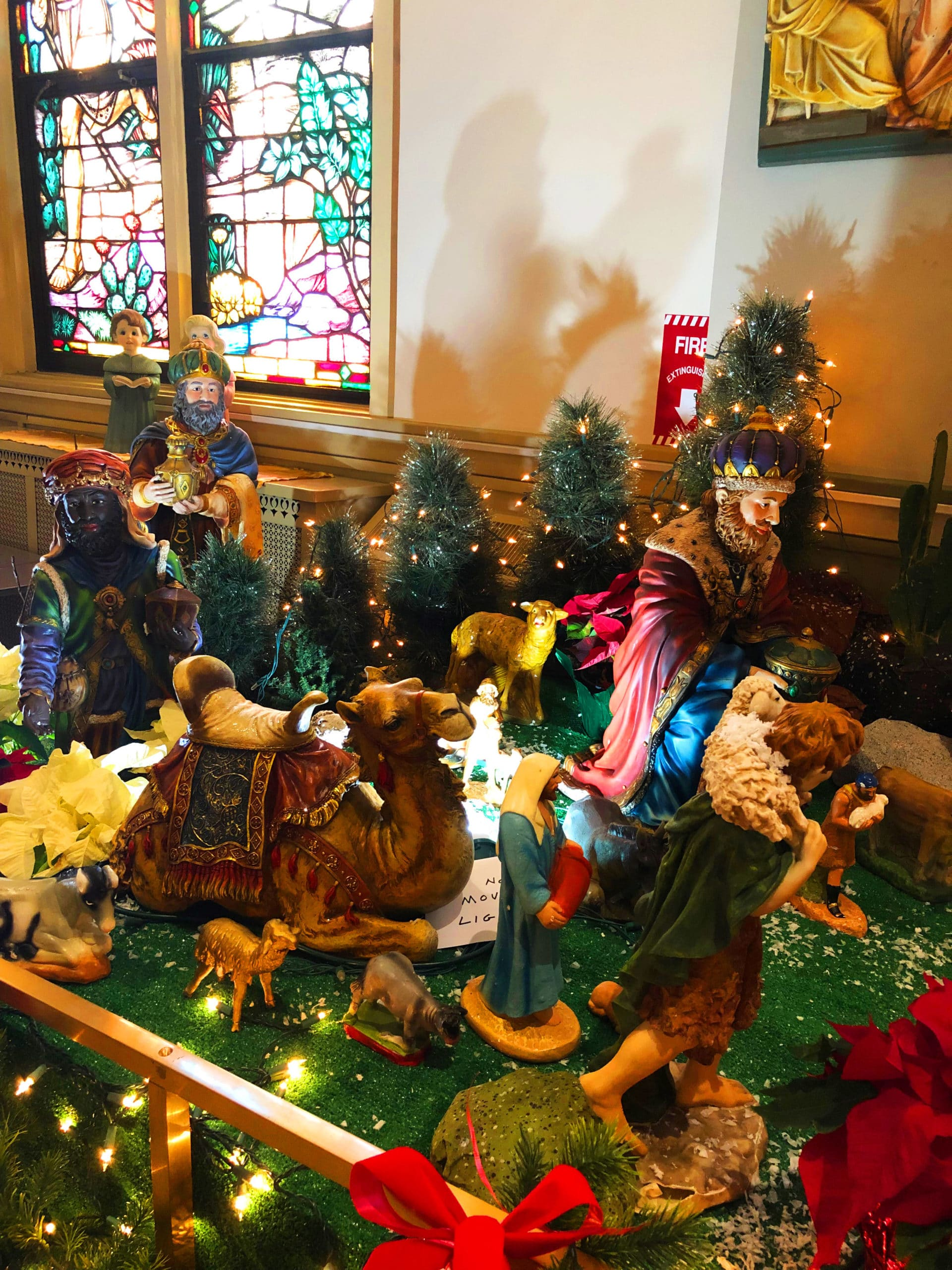 Nativity scene at the Shrine