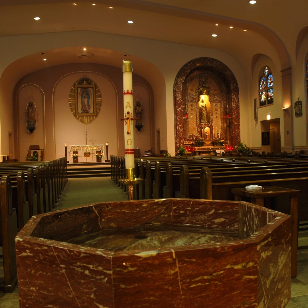 Our Lady of Guadalupe Baptismal Font