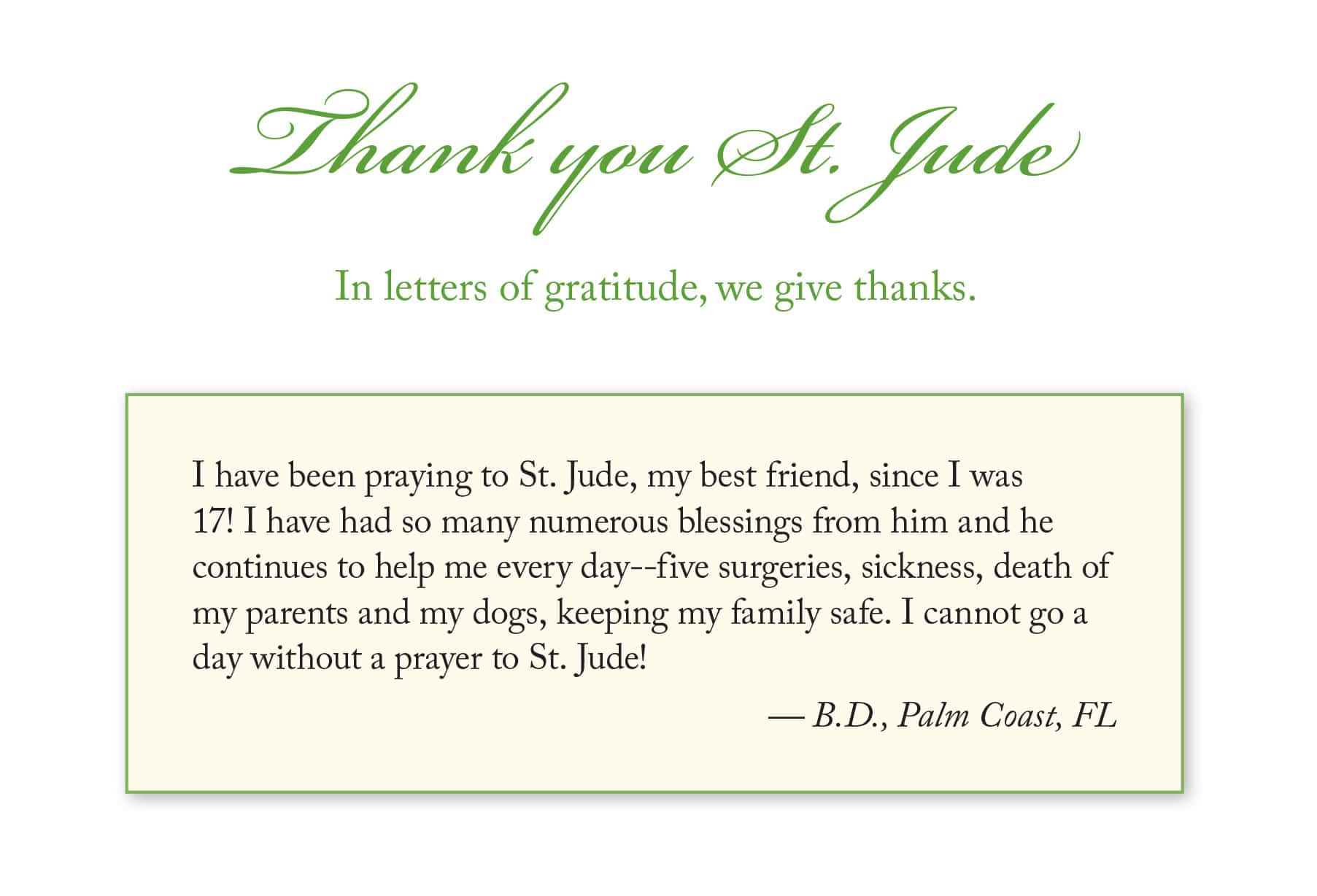 Letters of Gratitude January 2020