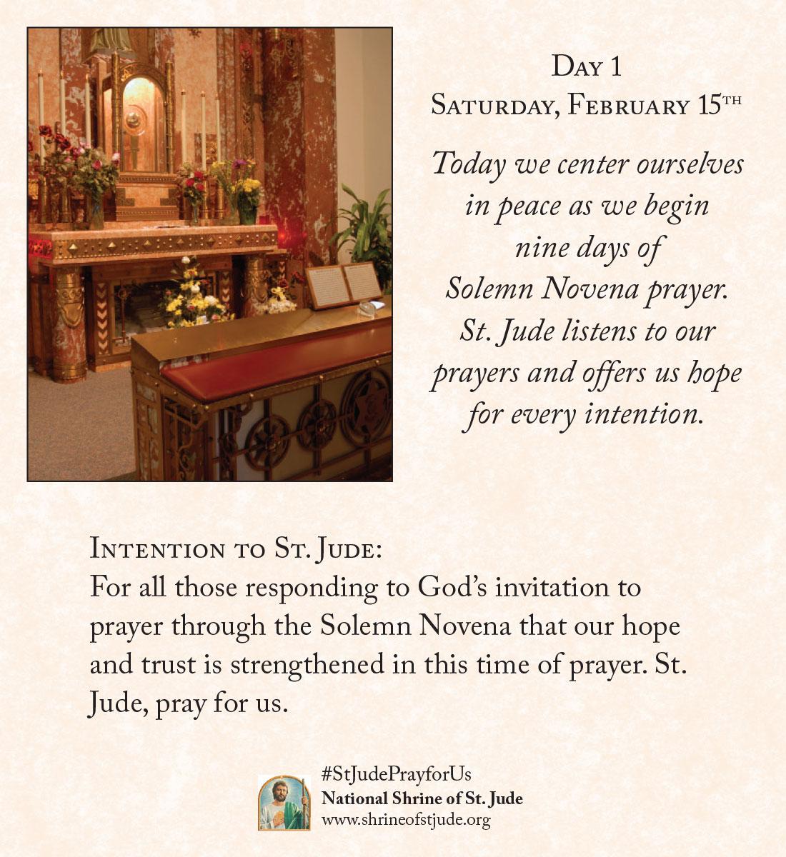 February Novena Day One Meditation