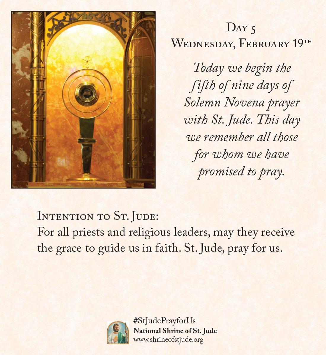 February Novena Day Five Meditation