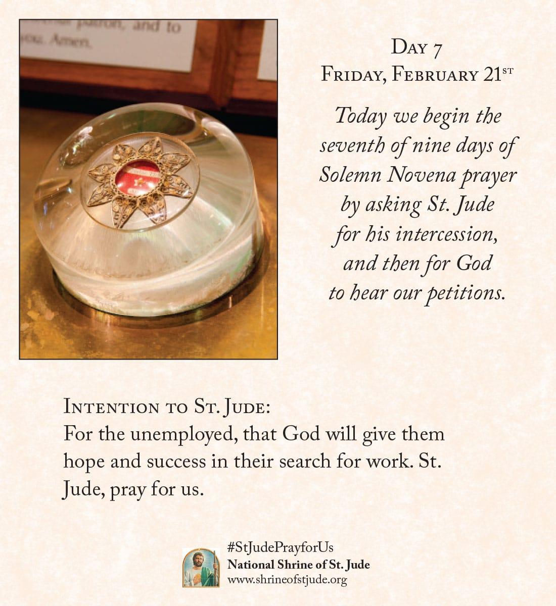 February Novena Day Seven Meditation