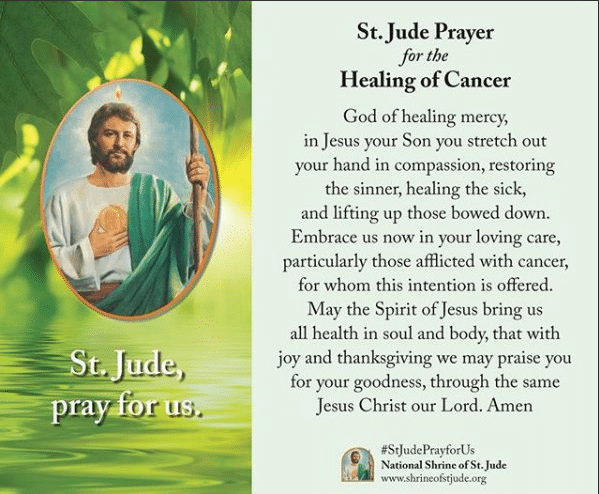 St. Jude Prayer for the Healing of Cancer