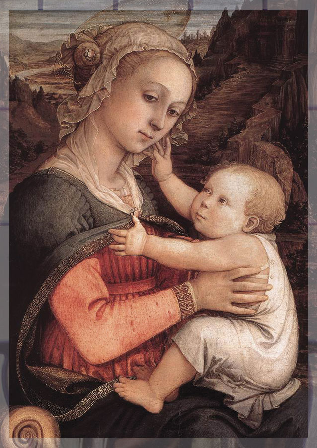 """Madonna and Child,"" Filippo Lippi, 1465"