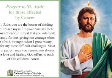 Prayer to St. Jude for those Affected by Cancer